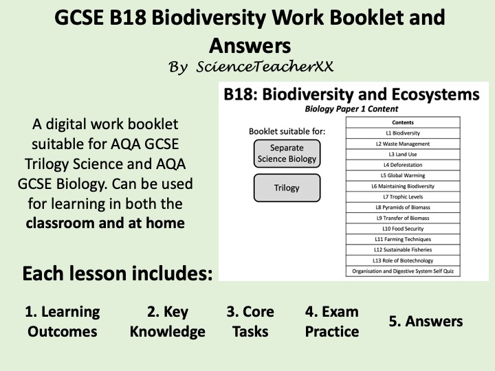 B18 Biodiversity Work Booklet and Answers