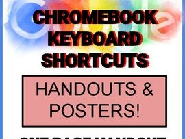 Chromebook Shortcut Posters & Handout