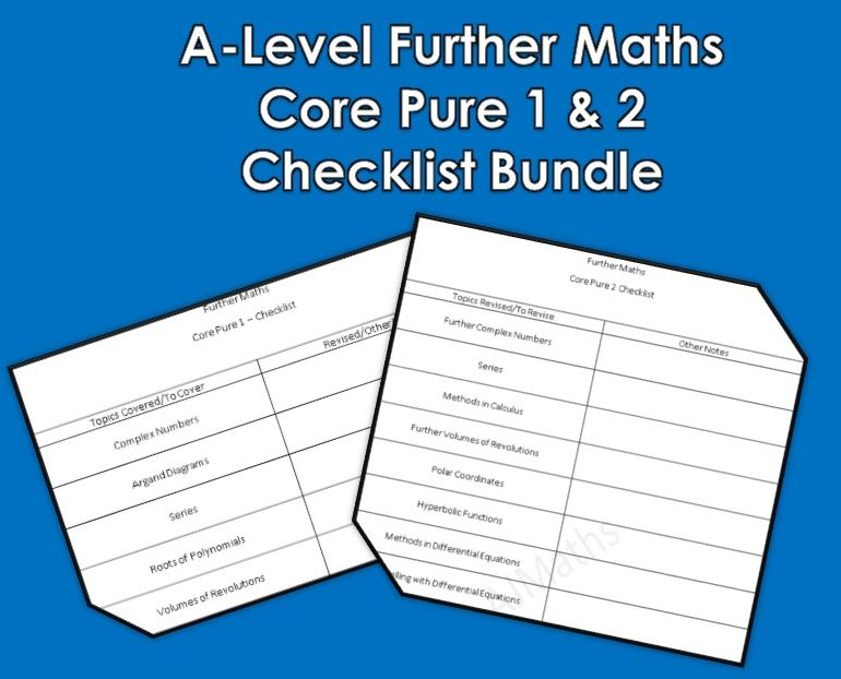 A-Level Further Maths Core Checklist Bundle