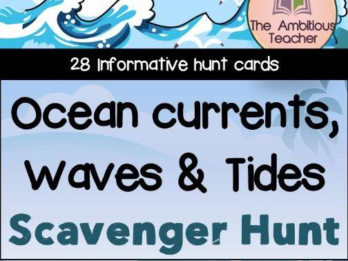 Ocean Currents, Waves & Tides | Scavenger Hunt Activity | Printable & Digital Distance Learning