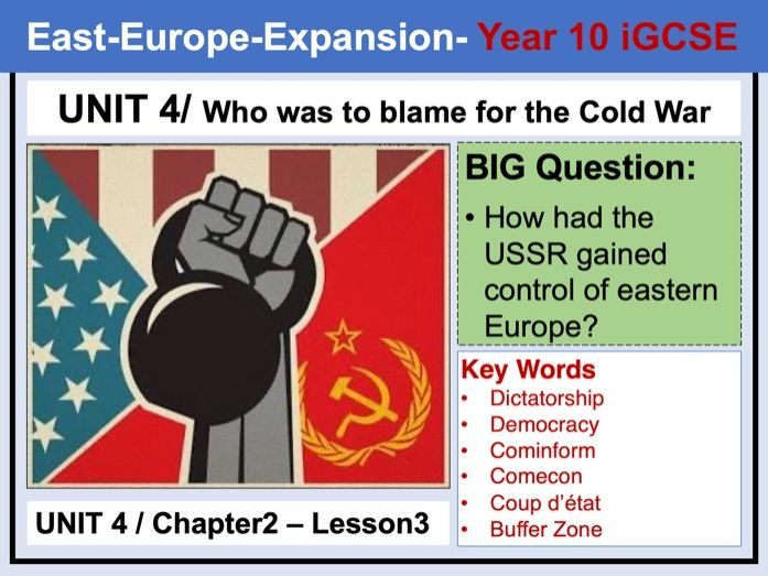 Cambridge  IGCSE History - Unit 4 - Chapter2 - Lesson3