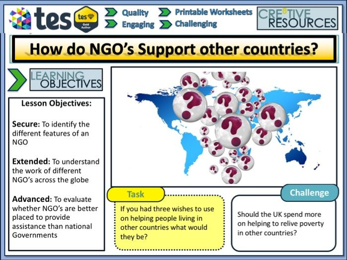 How do NGO's Support other Countries
