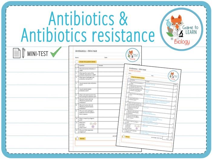 Antibiotics & Antibiotic resistance - Mini-test (KS5)