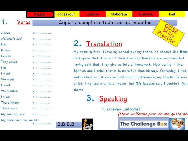 Viva GCSE - Module 2 - Mi nuevo insti - Lesson 1