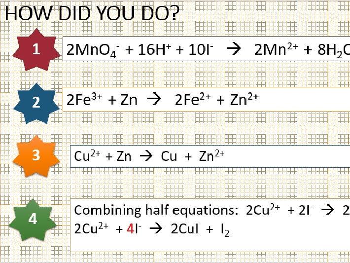 AS Chemistry Balancing Redox Equations Worksheet With Answers – Balancing Redox Equations Worksheet