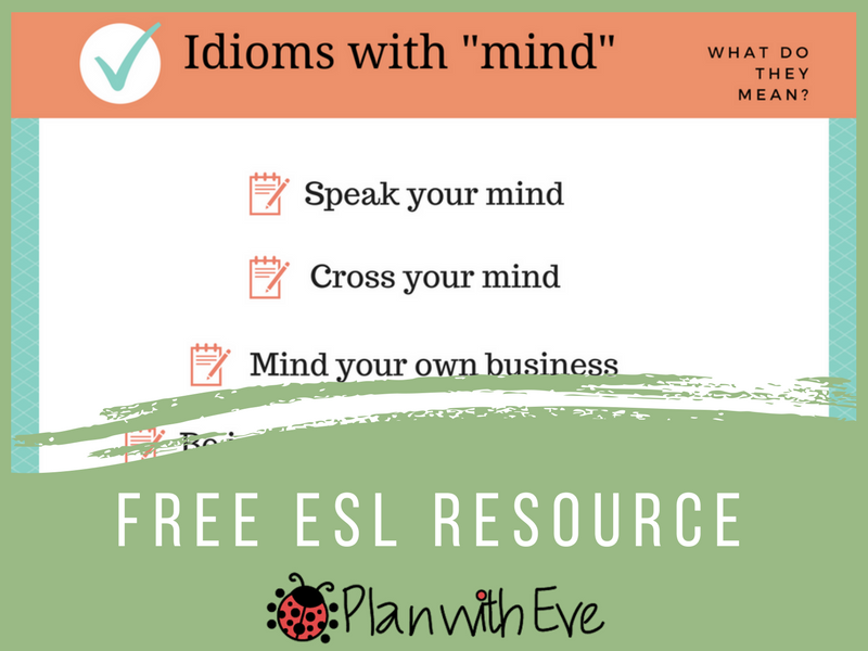 Idioms with Mind - Free discussion starter!