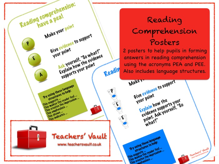 Reading Comprehension Posters By Helenrachelcrossley