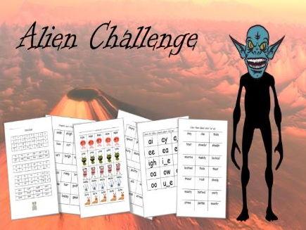 Alien Day Resource Pack – Fun Phonics Challenge ( phonic screening check / pseudo word activity )