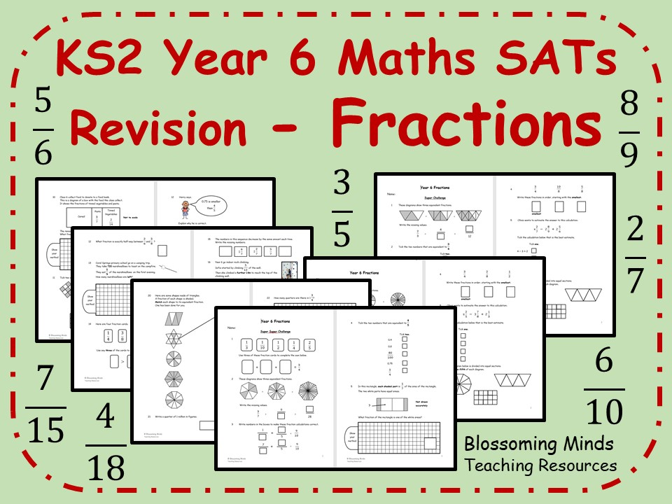 KS2 Year 6 Maths SATs - Fractions Revision - 3 Levels