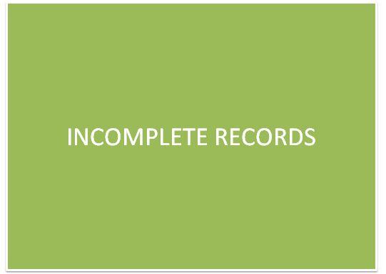 Incompete Records