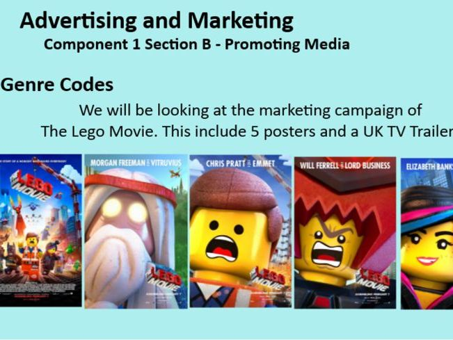 OCR GCSE Media Studies 2018 - Promoting Media (Lego Marketing Campaign) SOW