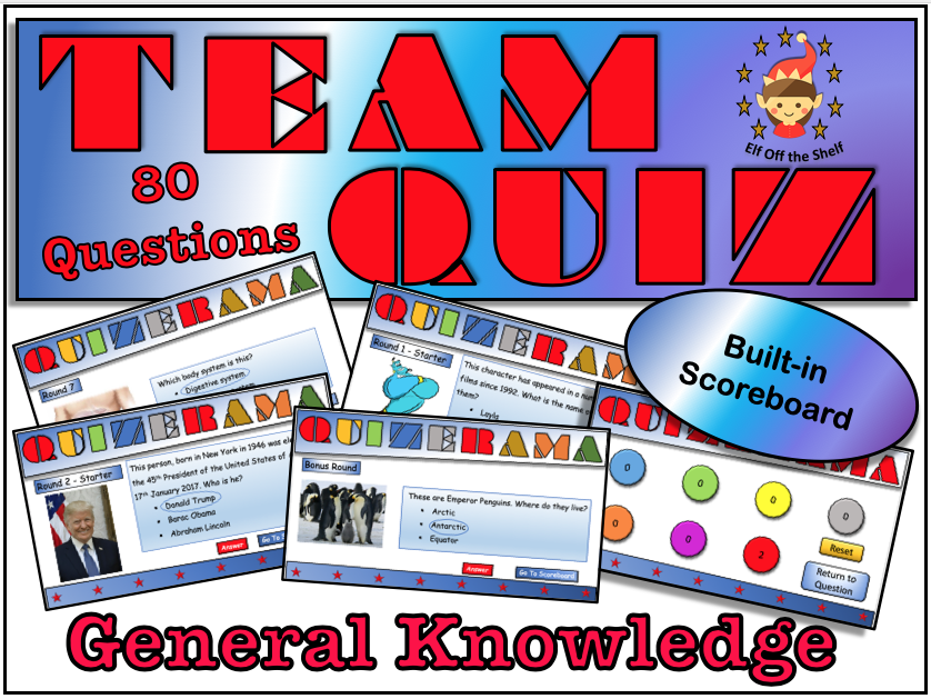 Back to school/End of Year General Knowledge Quiz 2019 KS3