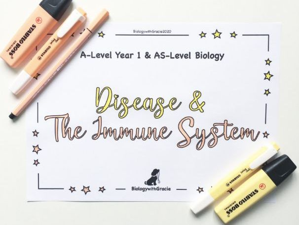 A-Level Year 1 & AS- Level Biology Disease & The Immune System Revision Workbook