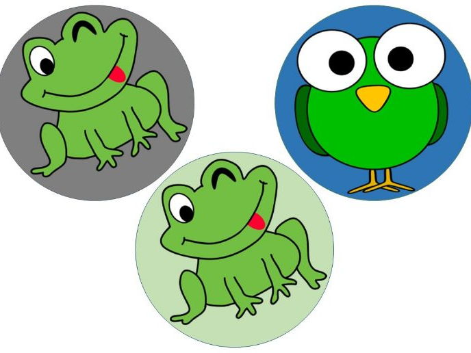 Frogs and Birds desk tags