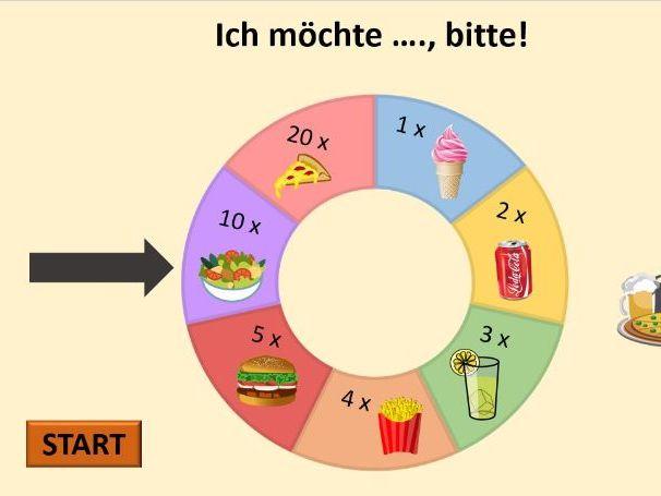 Mmm, lecker. Essen und Trinken Y7/Y8 Stimmt 1 Deutsch Food entire chapter