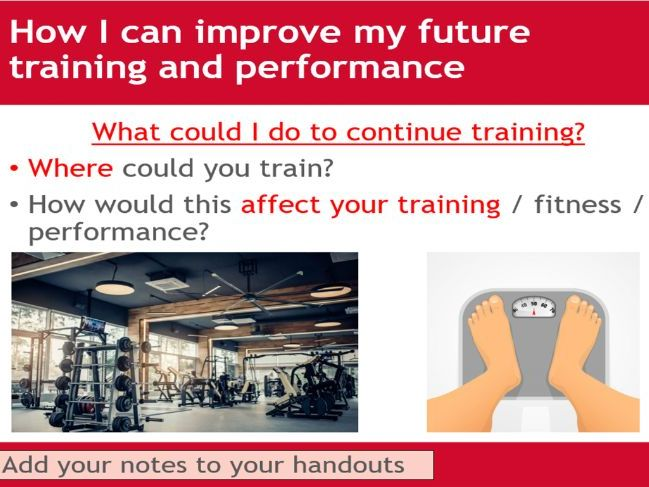 Training programme review - BTEC Sport - Unit 3 - Applying the principles of personal training