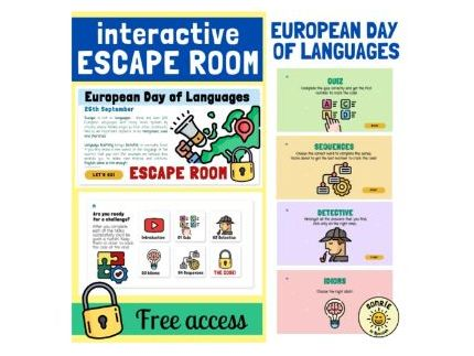 European Day of Languages Escape Room. Assembly. Tutor activity. Form