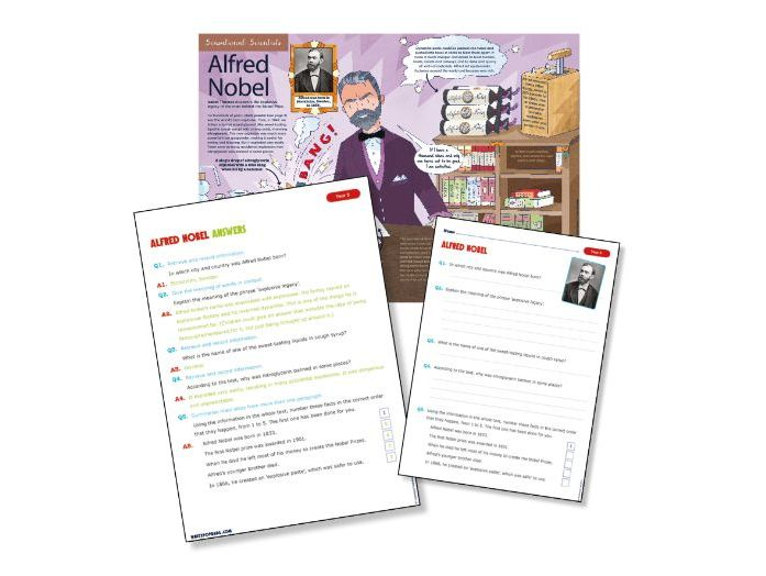 Year 5 science reading: Alfred Nobel
