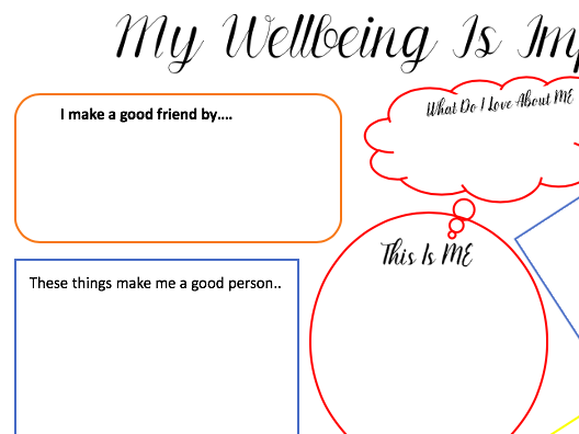 My wellbeing is important activity