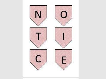 Notice Board Bunting Pink