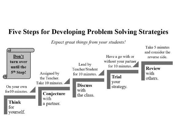 Five Step Problem Solving: Less is more