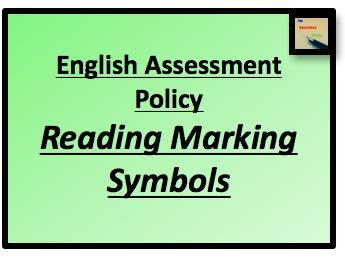 Reading Marking Symbols and Presentation