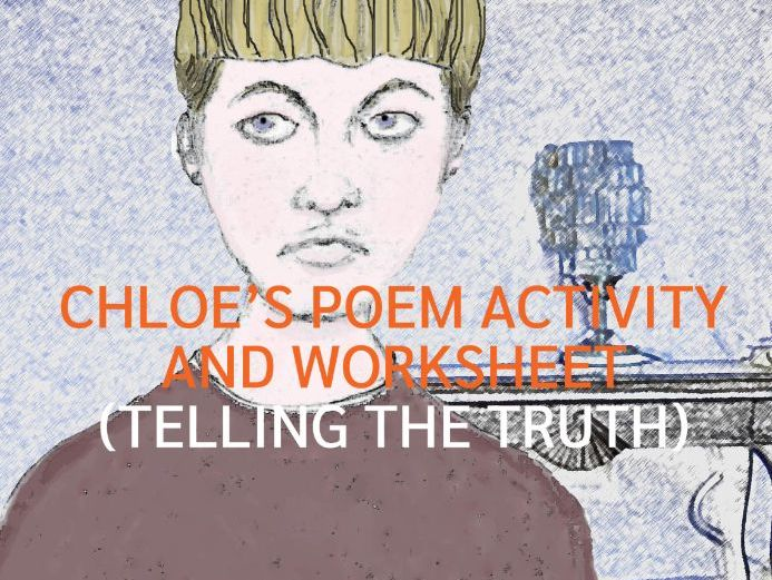 Telling the Truth - Chloe's Poem Activity and Worksheet (US)