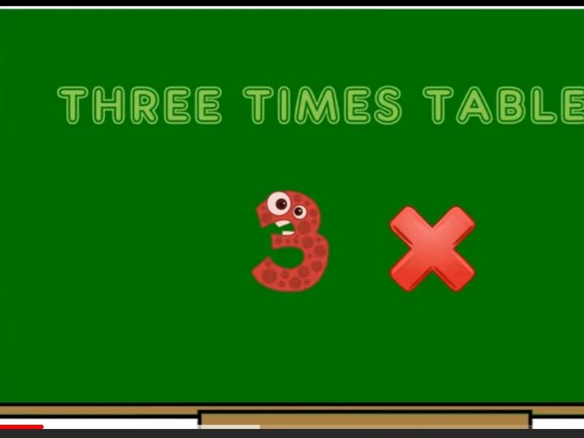Three times tables song