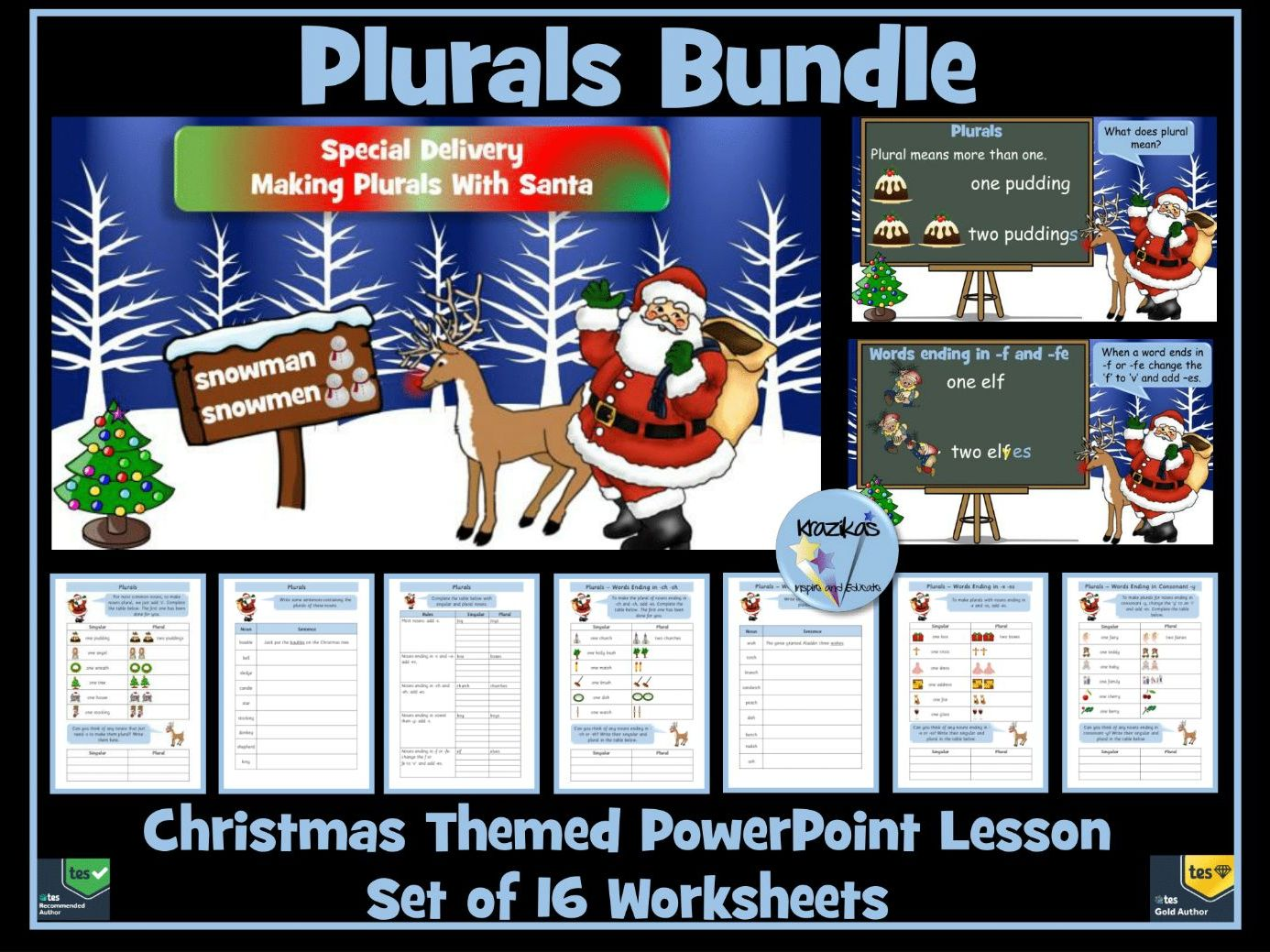 Plurals Bundle - Christmas Themed