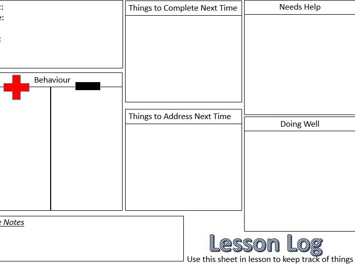 Lesson Log