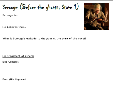 A Christmas Carol GCSE revision exercise book lockdown remote independent distance learning