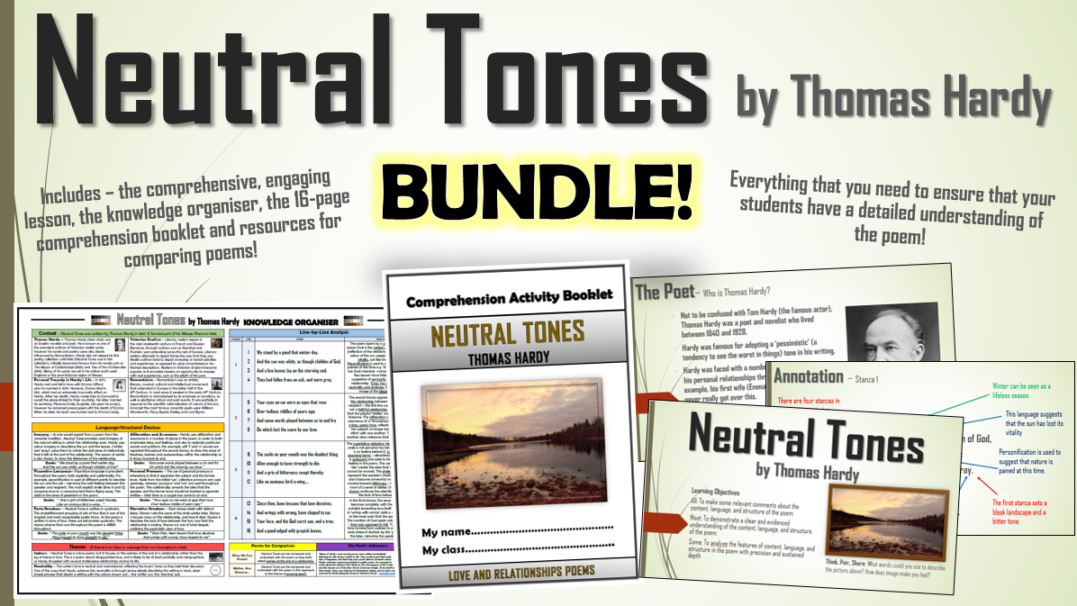 Neutral Tones - Thomas Hardy - Bundle!