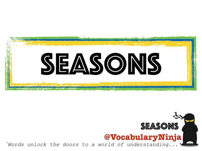 Seasons Topic Vocabulary Pack