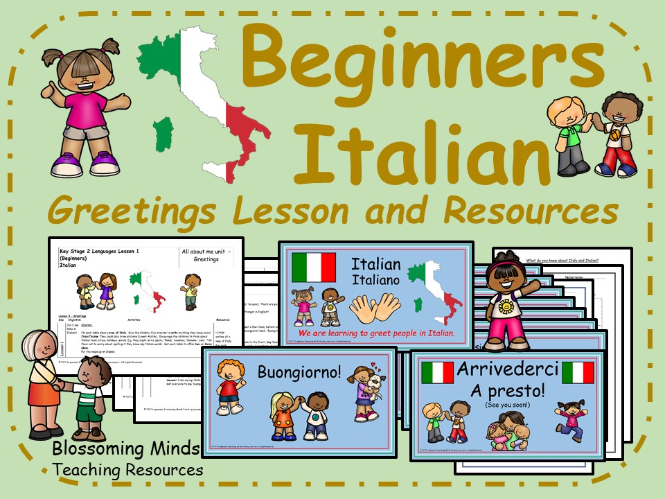 Italian lesson and resources - Greetings - KS2
