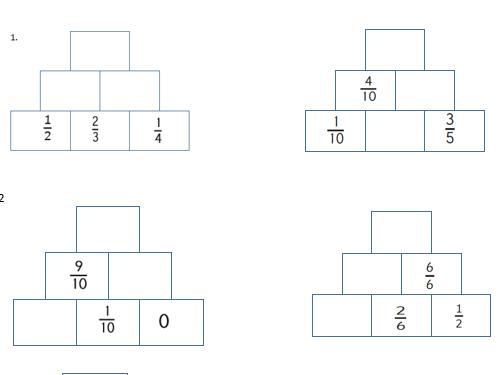 GCSE Maths/Functional Skills _Adding Fractions Pyramid