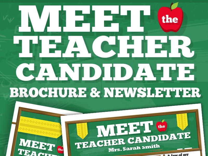 Meet the Teacher Candidate Template Newsletter, Flyer, Brochure