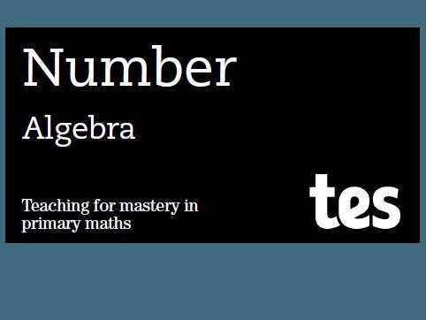 Algebra: Teaching for mastery booklet