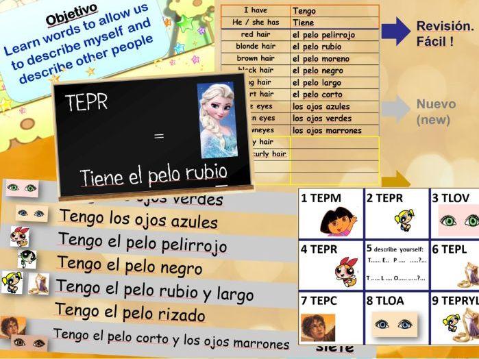 Spanish - Physical Descriptions - Appearance