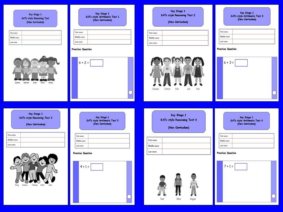 KS1, Year 2, SATs style Reasoning and arithmetic assessment bundle.