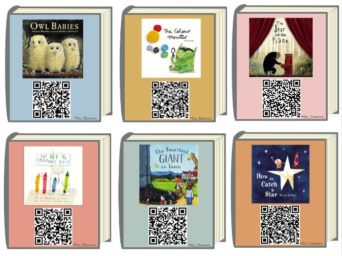 QR Code/Digital Library - 200+ Picture Books to listen and enjoy