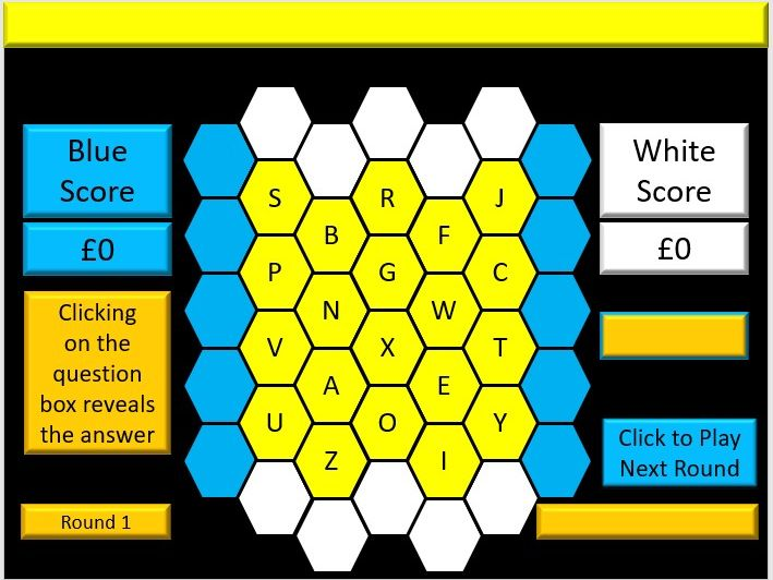Interactive A Level Biology Vocabulary/Technical Terms Blockbusters Revision Quiz Evaluation Version