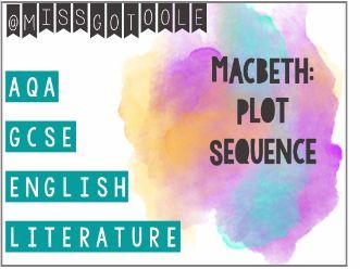 Macbeth: Plot Sequence/ Sort Activity