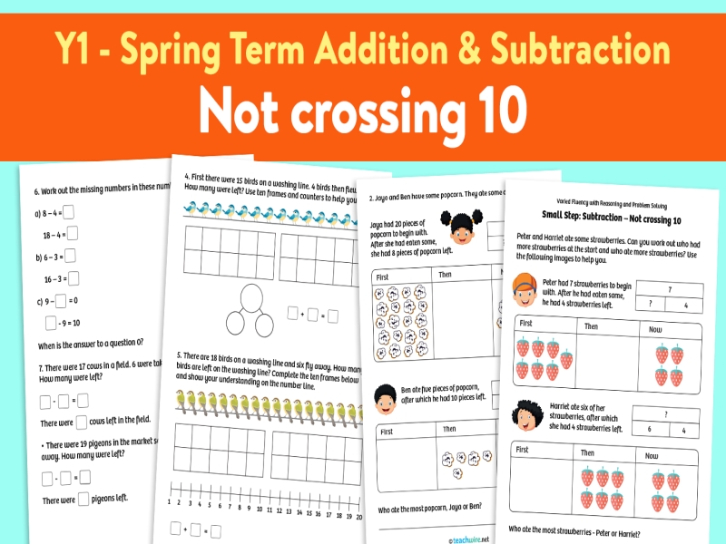 Subtraction Not Crossing 10 activities: Spring Term, Block 1 – Addition and Subtraction