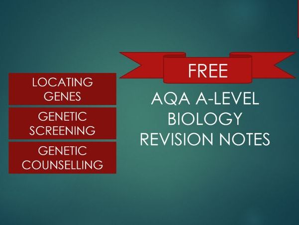 Revision Notes for A-level Biolody Recombinant DNA Technology 21.4