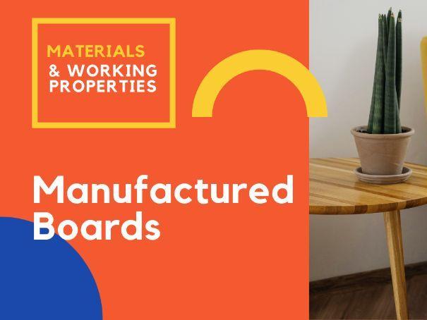 Manufactured boards - Worksheets GCSE DT