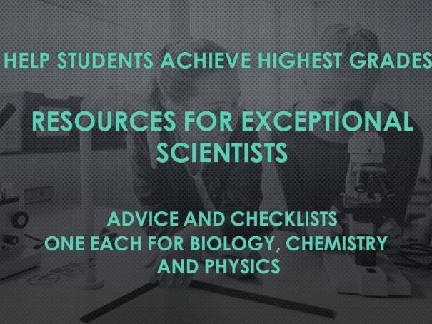 Advice for students wishing to gain the highest grades in chemistry  exams