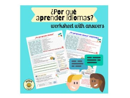 ¡A currar! ¿Por qué aprender idiomas? Spanish GCSE learning languages. Worksheet with answers