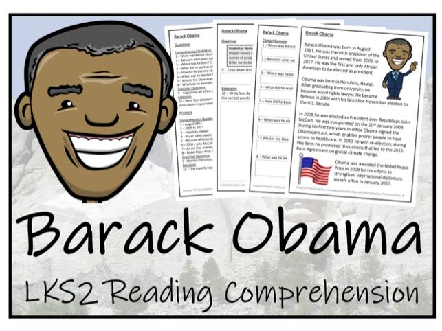 LKS2 History - Barack Obama Reading Comprehension Activity