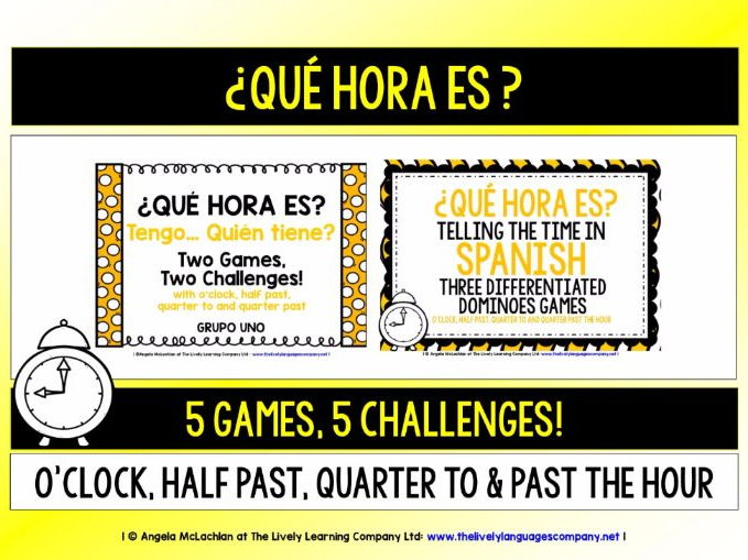 SPANISH TELLING THE TIME - FIVE GAMES & CHALLENGES (1)