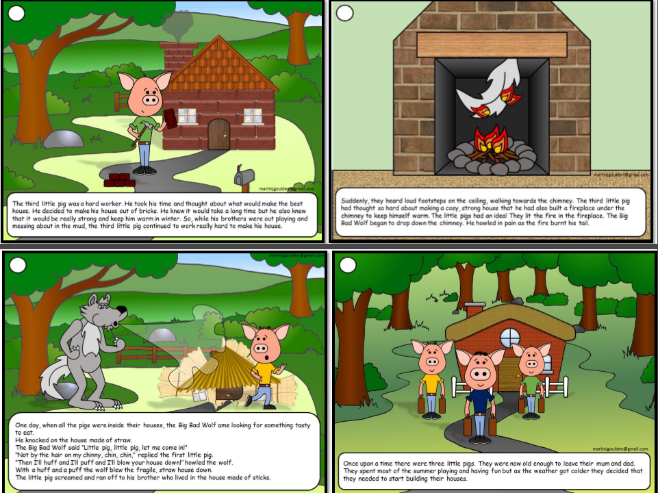 Three Little Pigs Story Sequence